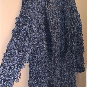 Super soft chenille like shag cardi by POL